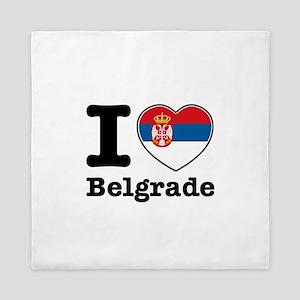I love Belgrade Queen Duvet