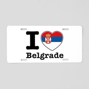 I love Belgrade Aluminum License Plate