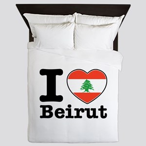 I love Beirut Queen Duvet