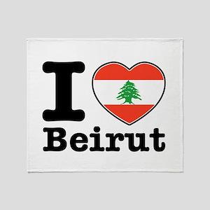 I love Beirut Throw Blanket