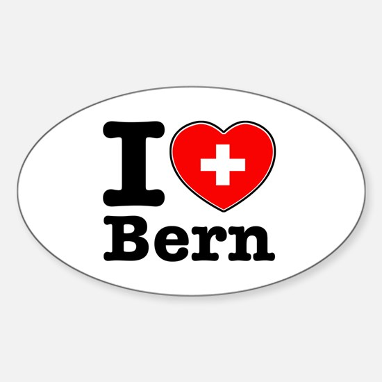 I love Bern Sticker (Oval)