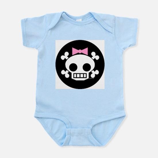 Skull Baby Girl Infant Creeper