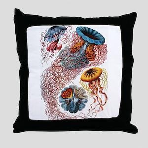 Ernst Haeckel Jellyfish Throw Pillow