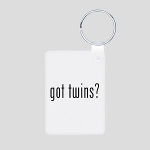 Got twins? Aluminum Photo Keychain