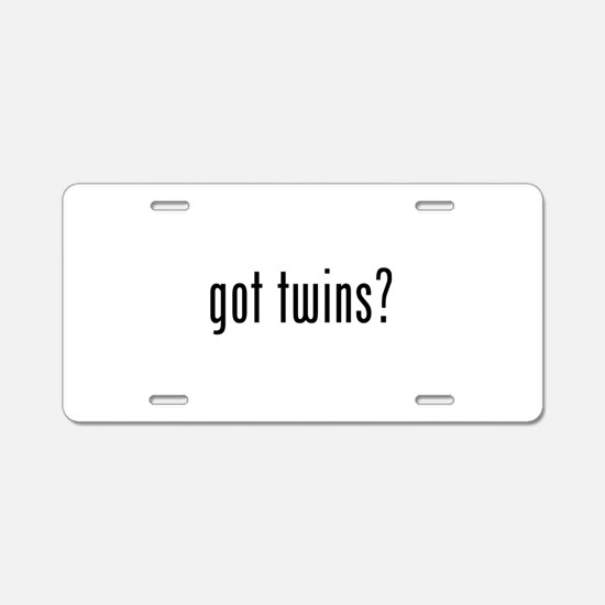 Got twins? Aluminum License Plate