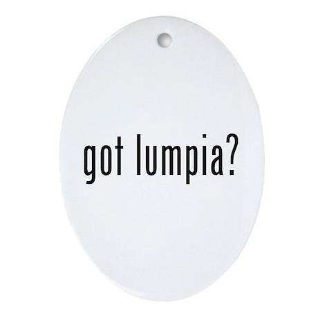 Got lumpia? Ornament (Oval)