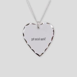 Got social work? Necklace Heart Charm