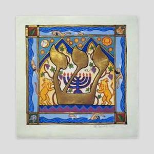 Hebrew Blue Shin Queen Duvet