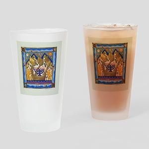 Hebrew Blue Shin Drinking Glass