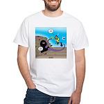 Octopus vs SCUBA Diver White T-Shirt