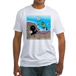 Octopus vs SCUBA Diver Fitted T-Shirt