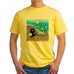 Octopus vs SCUBA Diver Yellow T-Shirt