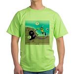 Octopus vs SCUBA Diver Green T-Shirt