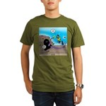 Octopus vs SCUBA Dive Organic Men's T-Shirt (dark)