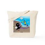 Octopus vs SCUBA Diver Tote Bag