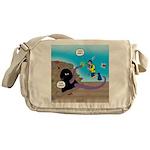 Octopus vs SCUBA Diver Messenger Bag