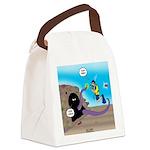 Octopus vs SCUBA Diver Canvas Lunch Bag