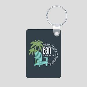 Beta Theta Pi Beach Person Aluminum Photo Keychain