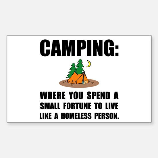Camping Homeles Decal