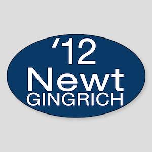 Newt Gingrich Sticker (Oval)
