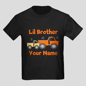 Little Brother Truck Kids Dark T-Shirt