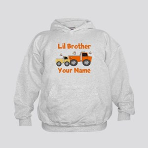 Little Brother Truck Kids Hoodie