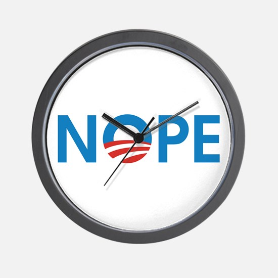 Cute Obama nope Wall Clock