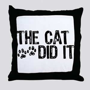 The Cat Did It Throw Pillow