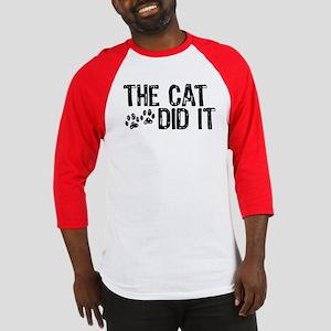 The Cat Did It Baseball Jersey