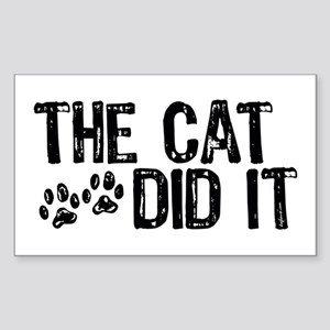 The Cat Did It Rectangle Sticker