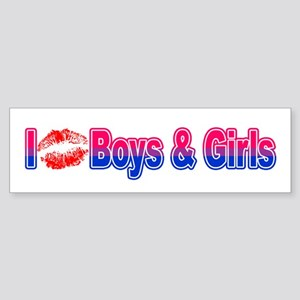 I Kiss Boys & Girls Bumper Sticker