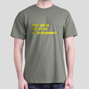 Two Girls Threesome Dark T-Shirt
