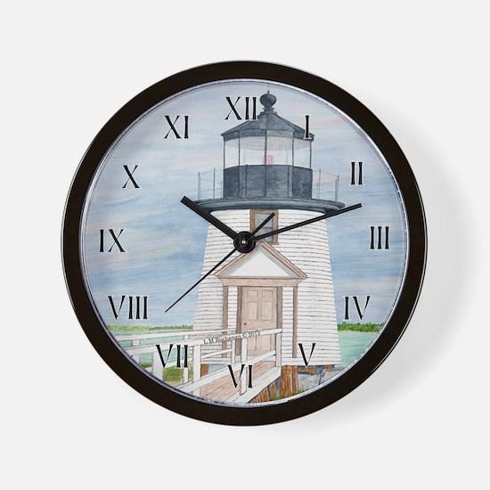 Evening Light at Brant Point Wall Clock