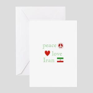 Peace, Love and Iran Greeting Card