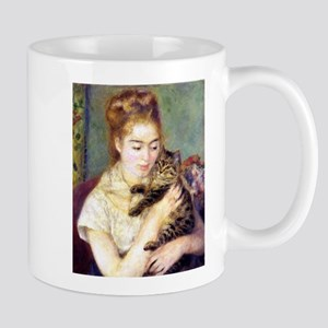 Lady w/ Cat, Renoir Mug