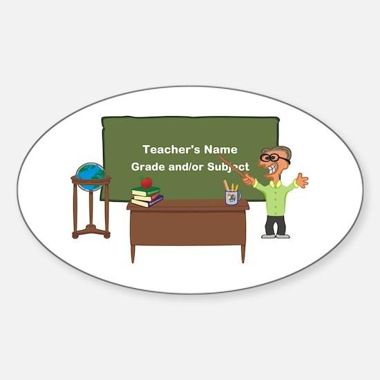 Cartoon Teacher Appreciation Male Decal