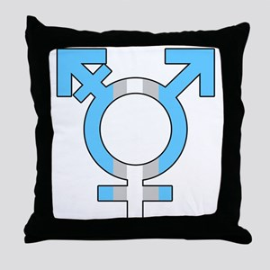 Trans Symbol Throw Pillow