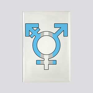 Trans Symbol Rectangle Magnet