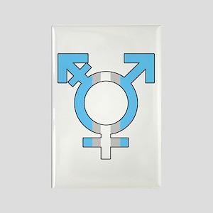 Trans Symbol Rectangle Magnet