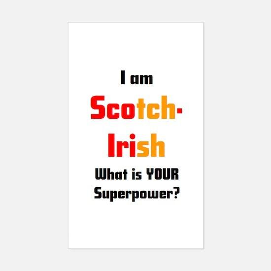 i am scotch-irish Sticker (Rectangle)