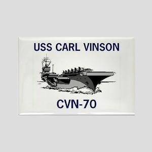 USS CARL VINSON Rectangle Magnet (10 pack)