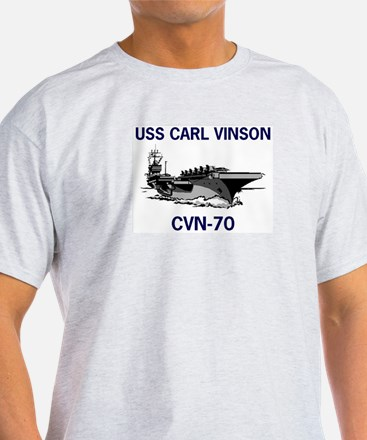 USS CARL VINSON Ash Grey T-Shirt