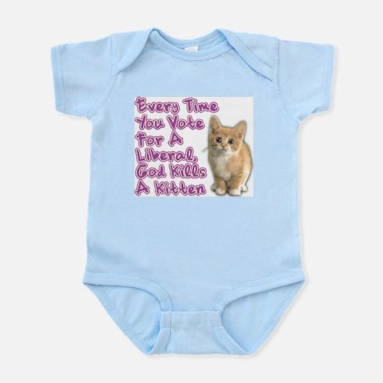 God Kills A Kitten Infant Bodysuit