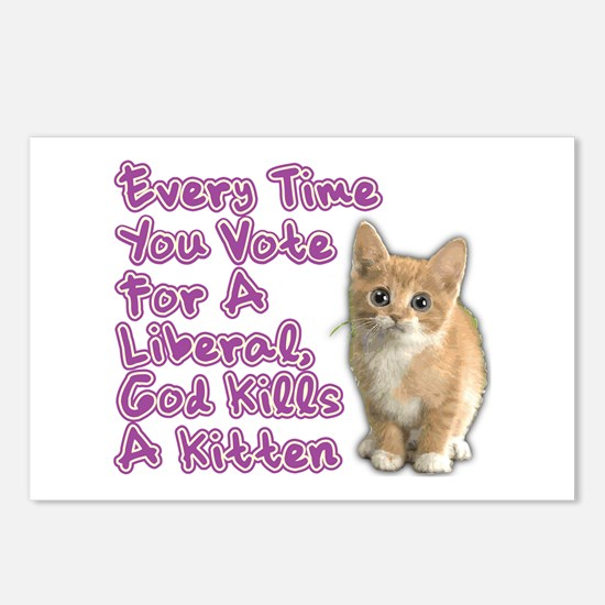 God Kills A Kitten Postcards (Package of 8)