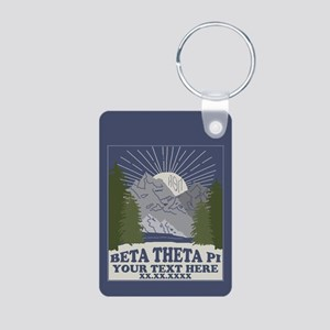 Beta Theta Pi Mountains Pe Aluminum Photo Keychain