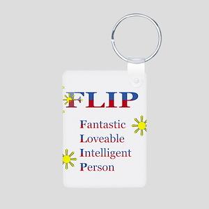 F.L.I.P. Aluminum Photo Keychain