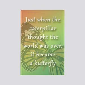 """Be the Butterfly"" Rectangle Magnet"