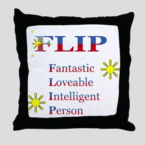F.L.I.P. Throw Pillow