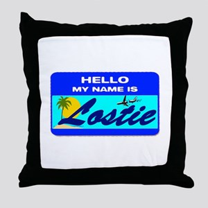 Hello My Name is Lostie! Throw Pillow