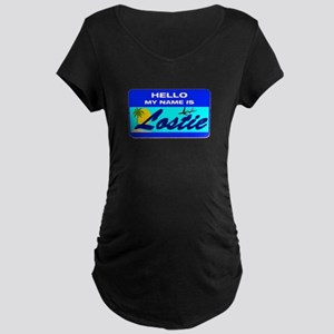 Hello My Name is Lostie! Maternity Dark T-Shirt